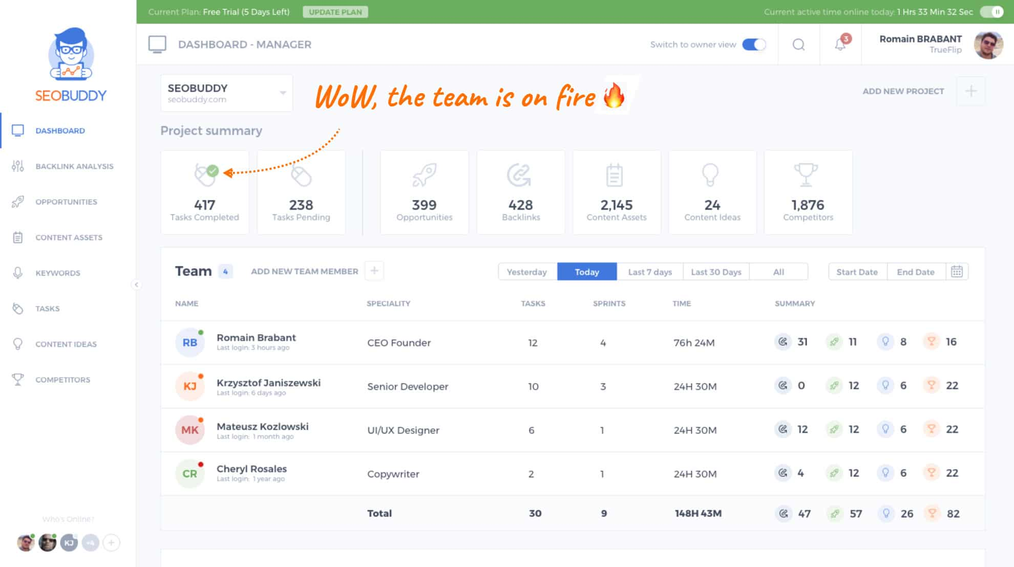 seobuddy top section - SEOBUDDY Product Features with102 Checklist - The New and Simple Way To Do SEO